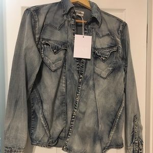 One Teaspoon chambray snap front NWT